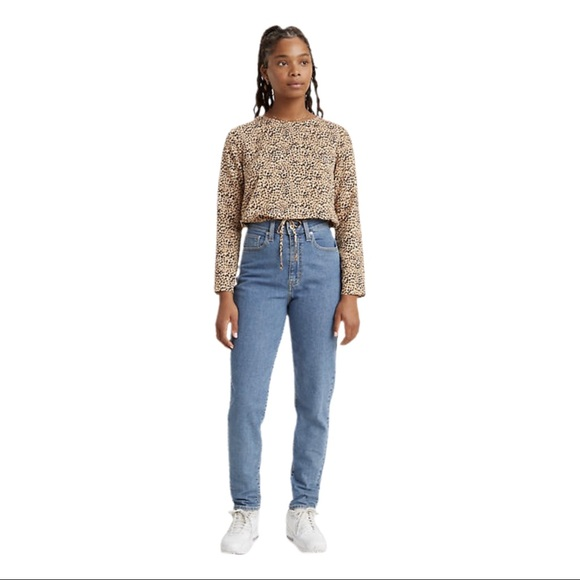Levi's Denim - Levi's 505 Relaxed Fit Tapered Leg Jeans 12 Misses